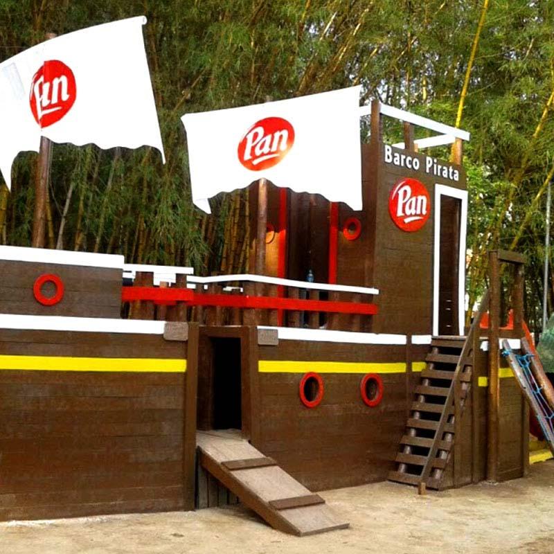 Barco playground infantile em madeira Rewood