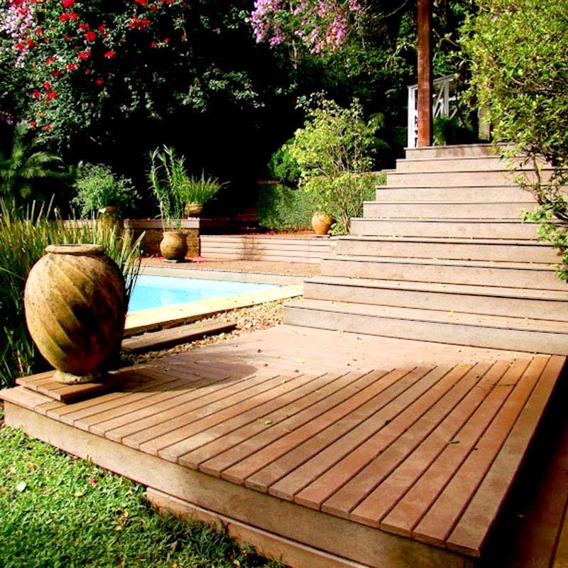Deck em madeira Rewood cor Canyon com régua de 10cm