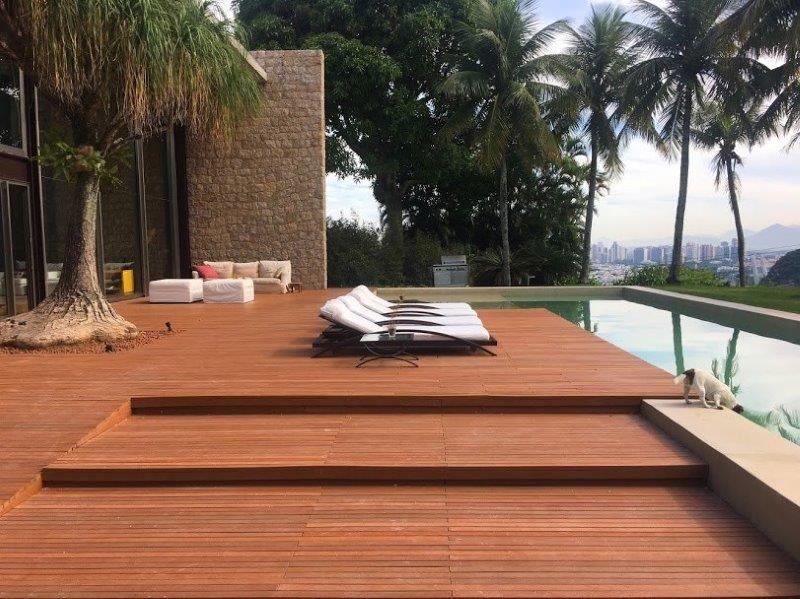 Deck de madeira plastica preço