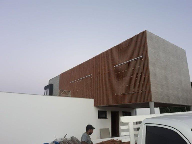 Madeira plastica para fachada
