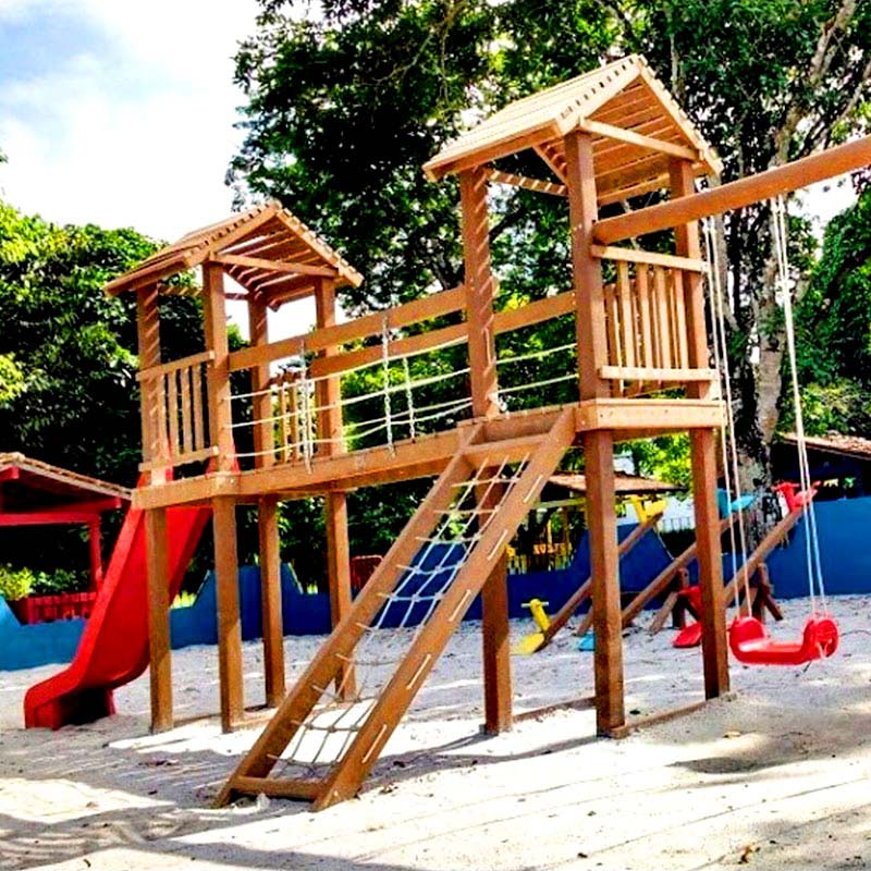 Playground em madeira Rewood cor Canyon linha Rustik